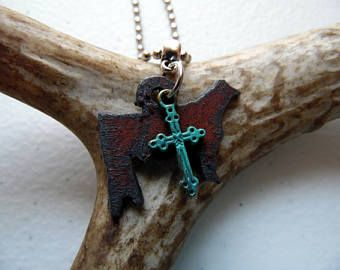 Stock Show Heifer Necklace, Cattle Jewelry, 4H Heifer Necklace, Farm Girl Gift, Show Cattle Jewelry, Livestock Jewelry, 4H Gift, FFA Gift