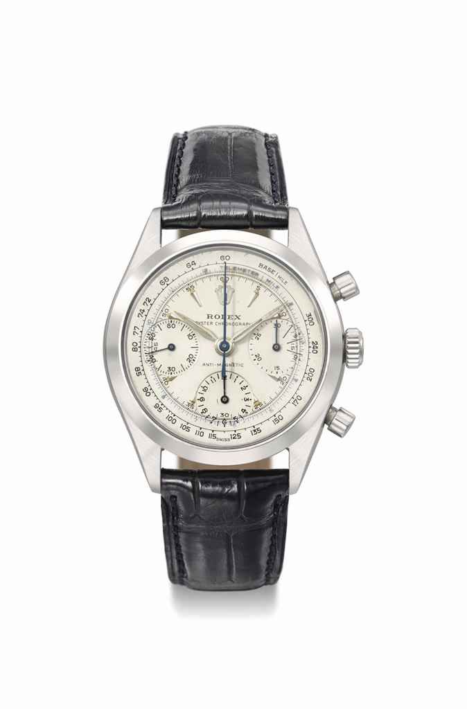 Rolex. A rare and attractive stainless steel antimagnetic chronograph wristwatch, circa 1960 #ChristiesWatches