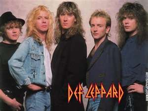 Def Leppard - gotta love the big hair bands! Grew up listening