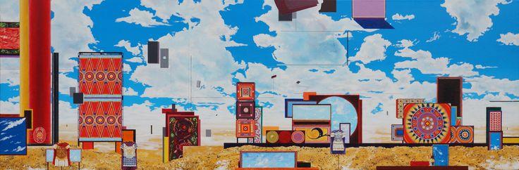 """""""An Ancient Presentation"""", oil on canvas, 40 x 122cm, 2013."""