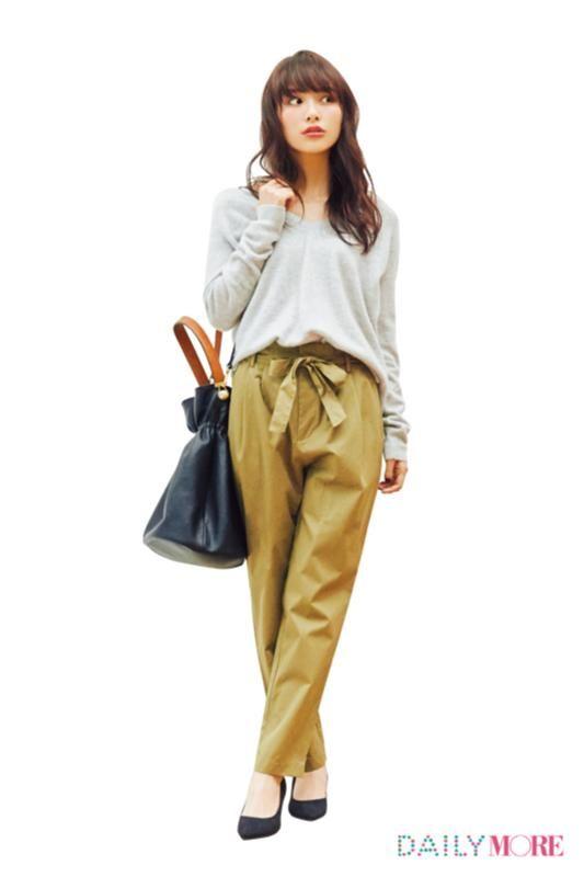 【今日のコーデ/内田理央】パンツをはきたい金曜日は美人なテーパードを選んで♪ | ファッション(コーディネート・流行) | DAILY MORE