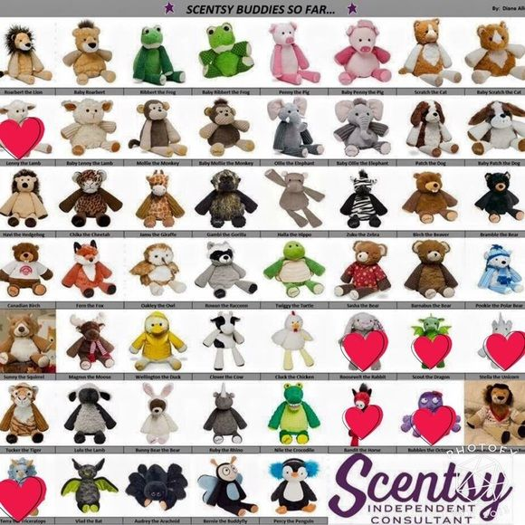 A Scensy Buddy is a stuffed animal with a special pocket that holds a fragrance pack. Each Buddy come with a free fragrance pack- a Scentsy Scent Pak.