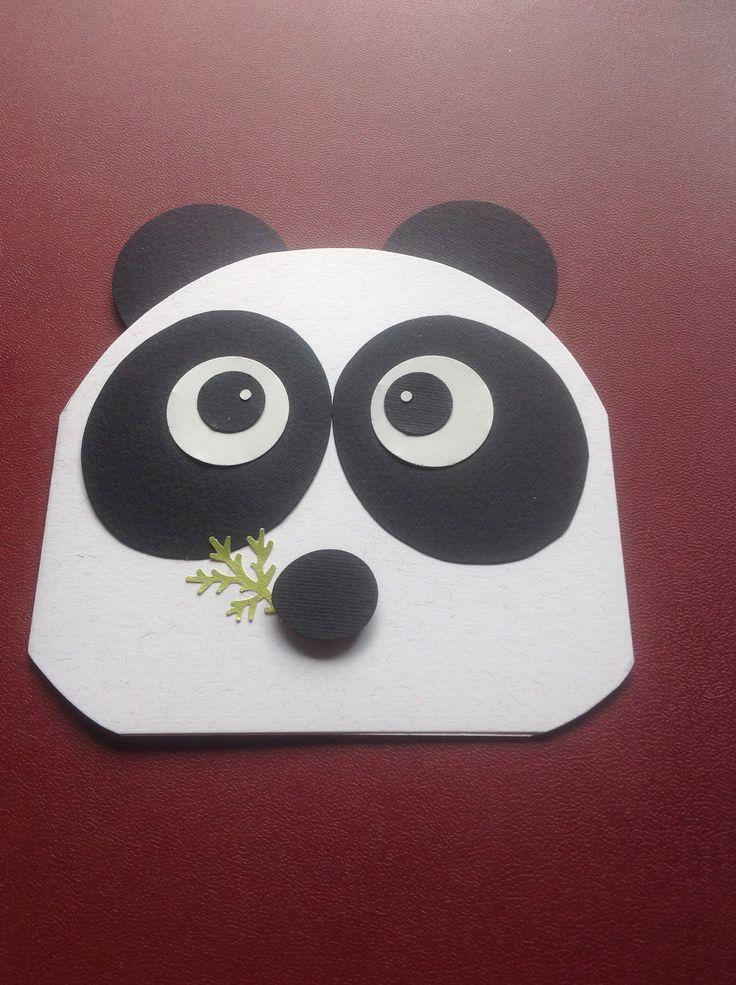 Mikhayla's 14th birthday panda card