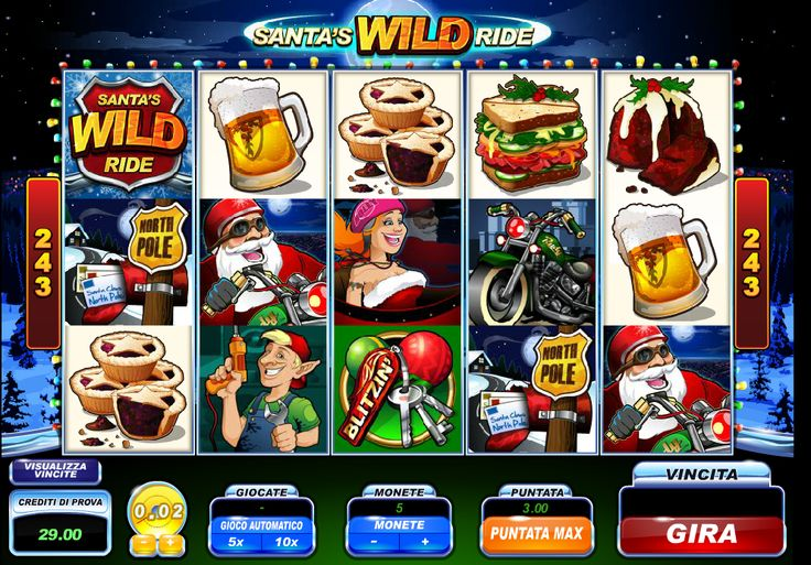 Uno scatenato Babbo Natale in questa #slot #machine. Divertimento assicurato al #casinò #online! www.allslotscasino.it
