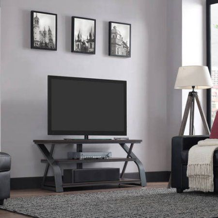 Bell'O 50 inch Umber Oak TV Stand with Mount for TV's up to 55 inch, Brown