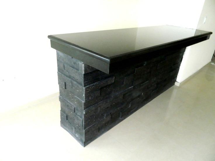 Cubierta para bar en granito negro san gabriel trabajos for Cubiertas de granito