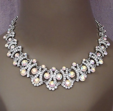 New Lady Di  Rhinestone Necklace Set, 40% off   Recycled Bride