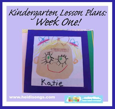 Kindergarten Lesson Plans, Week One!
