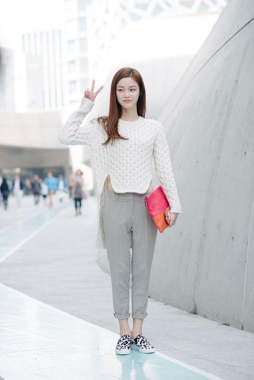 Street style: Han Eu Ddeum at Seoul Fashion Week Spring 2015 shot by Alex Finch