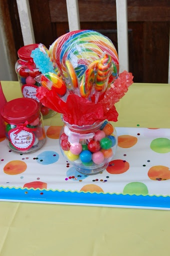 Bulk Candy Centerpieces (DIY)...could double as party favors