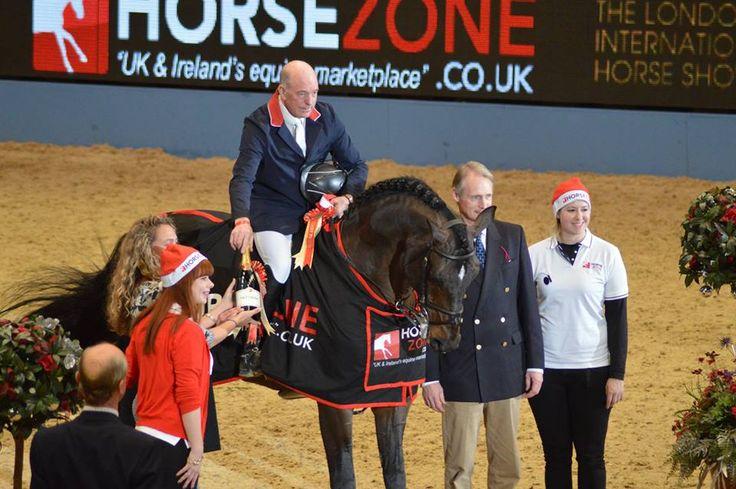 John Whitaker at Olympia. #johnwhitaker #johnwhitakerinternational #horse #equine #equestrian #olympia #showjumping #compete #win