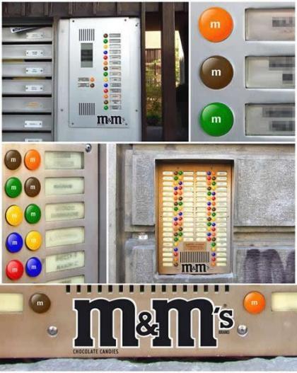 Guerrilla Marketing - Brasile, quando non si vedono altro che M&M's!