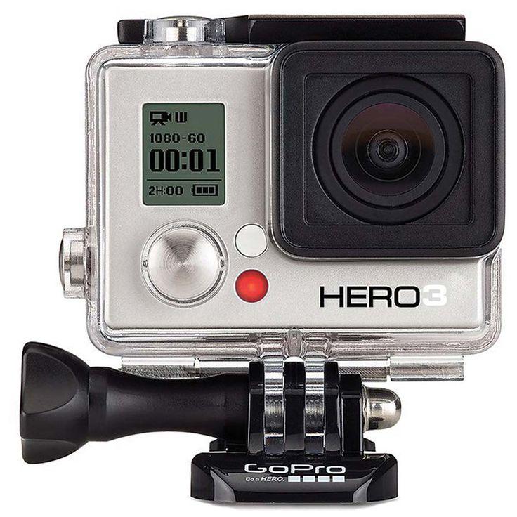 Câmera Digital e Filmadora Go Pro HERO3 White Edition CHDHE-302 Prata/Preto, 5 MP, Wi-Fi, com Lente Grande Ângular Imersiva e Vídeo Full HD - 1169