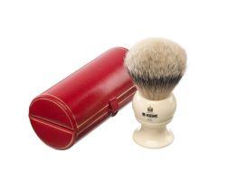 Brocha de afeitar Kent tejón 1ª color marfil