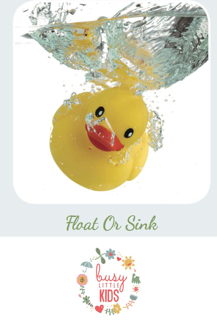 Fun, simple, easy rainy day kids activity  - Float or Sink