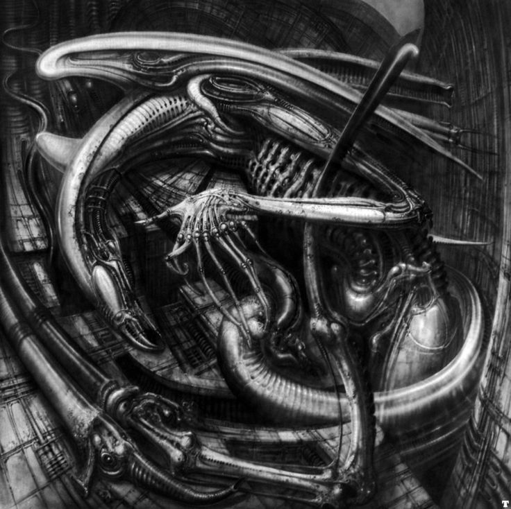 """The Original """"Alien"""" Concept Art Is Terrifying  H.R. Giger's original drawings for Alien are even more chilling than the final film."""
