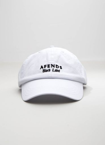 Label Curved Brim Cap - White [Follow us: @Peppermayo for more cuteness and daily fashion inspo.]