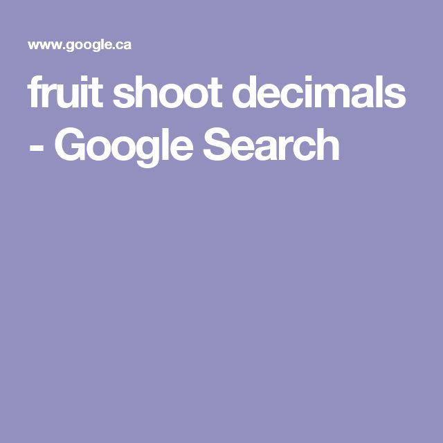 fruit shoot decimals - Google Search