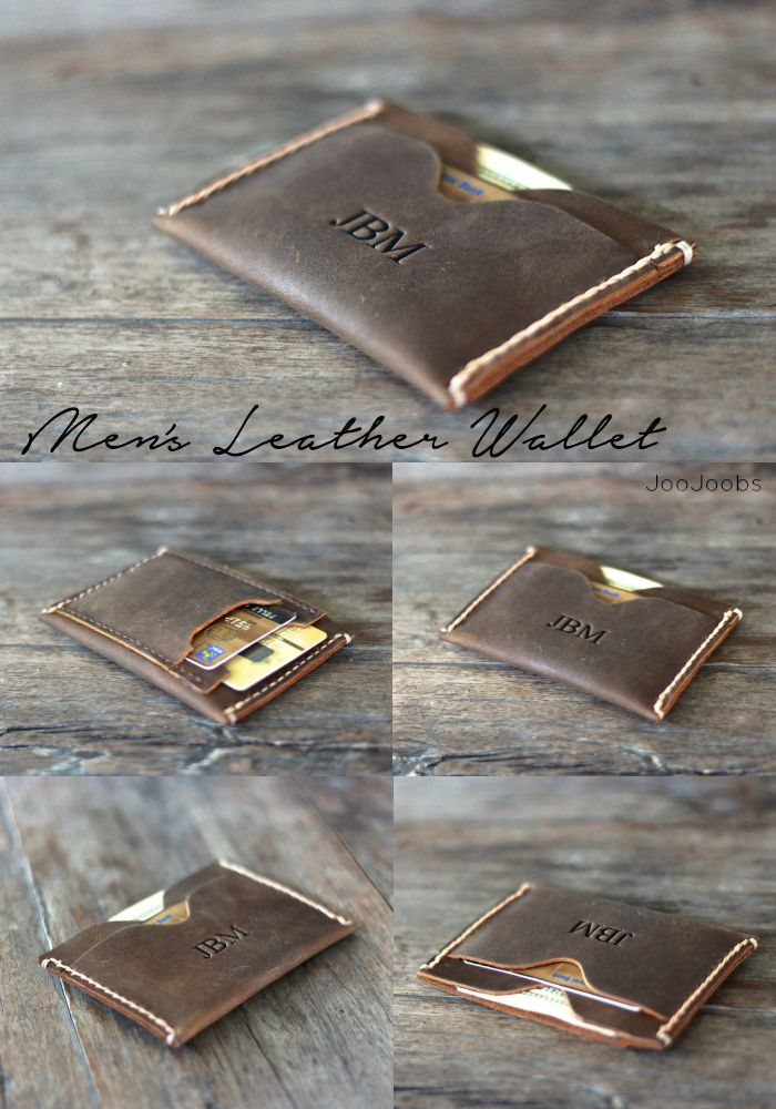 Inside Out Men's Leather Wallet. The Wallet of The Year! This JooJoobs original design is very unique and very popular. Its slim design makes it a perfect front pocket wallet.