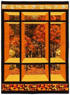 Window on the East Quilt Pattern CS-01 $9.00 From 1 floral panel http://quiltinspiration.blogspot.com/2013/08/free-pattern-day-attic-windows-quilts.html