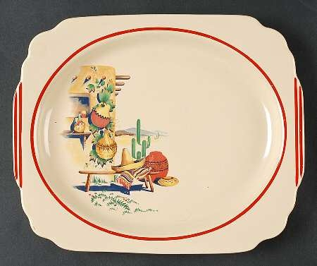 Homer Laughlin Hacienda platter-My mom had a set of these when I was growing up. Wish I still had them.