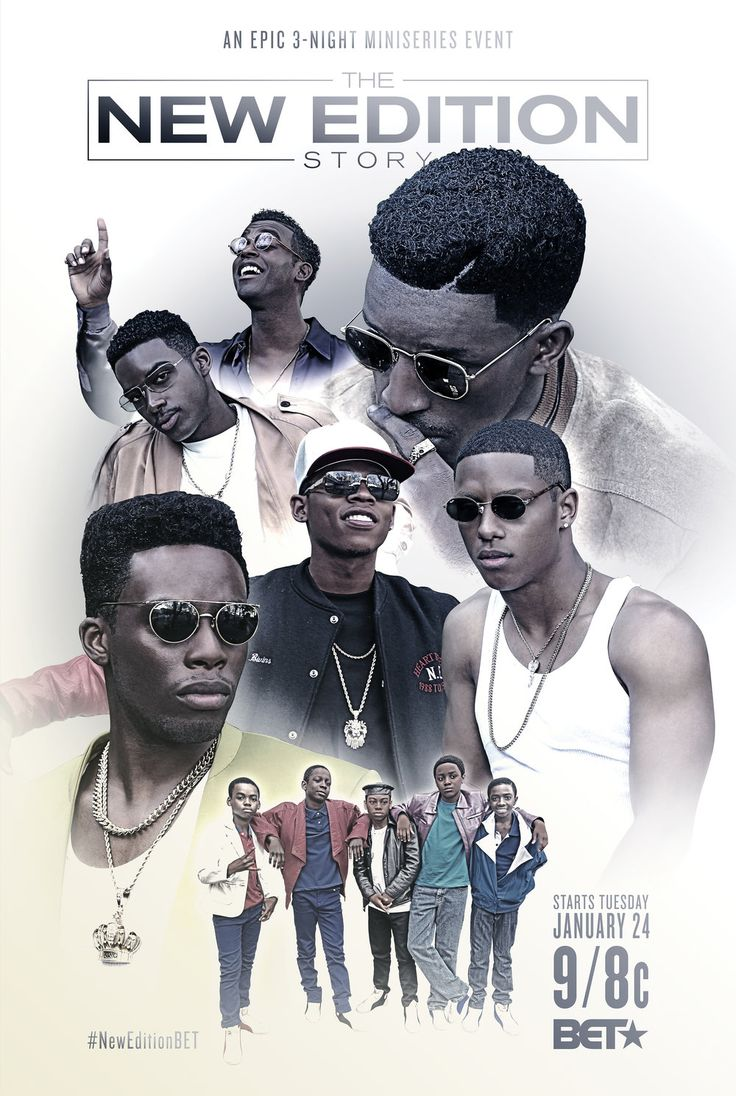 THE NEW EDITION STORY is a biographical three-night miniseries chronicling the ups and downs of legendary music group New Edition from their humble beginnings in Boston to individual solo success and everything in between. / Dir. Chris Robinson