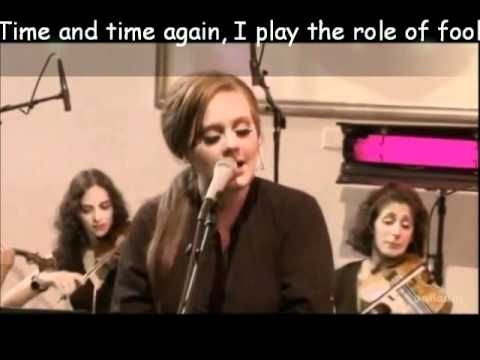 "Adele ""Cold Shoulder"" - Unplugged (lyrics)"