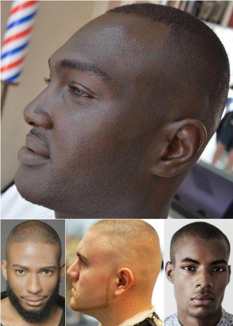 men's extra short half shaved haircut