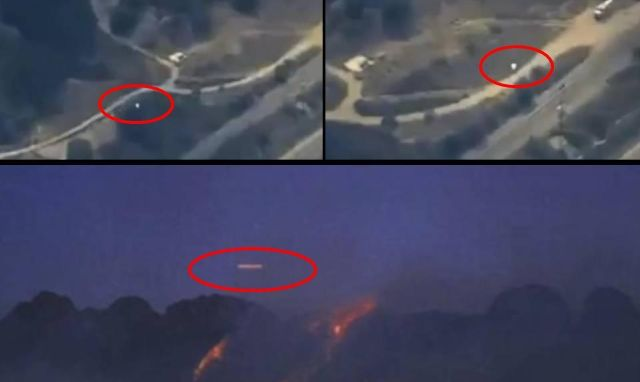 UFO filmed from helicopter near wildfire in California |UFO Sightings Hotspot