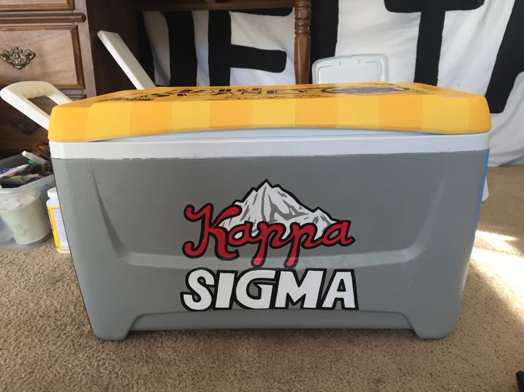Kappa sigma coors light painted fraternity cooler