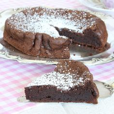 Chokladtårta med bara 2 ingredienser - Underbar chokladkaka som bara smakar choklad – helt ljuvlig för chokladälskaren!