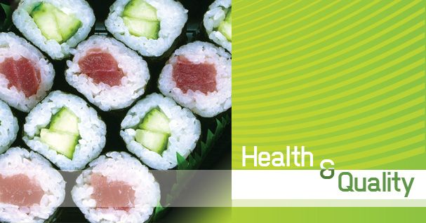 For an easy quick lunch on the go, pick up some packaged sushi at your local market.