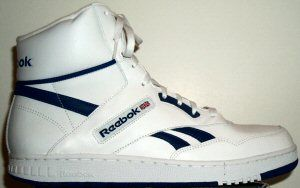 competitive price 88501 76d55 Reebok BB4600 classic basketball sneaker white leather, blue trim Reebok  Classic High Tops,