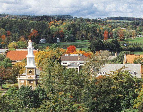 Hamilton College, Clinton, NY - the speaker at prospective applicants speech scared me!