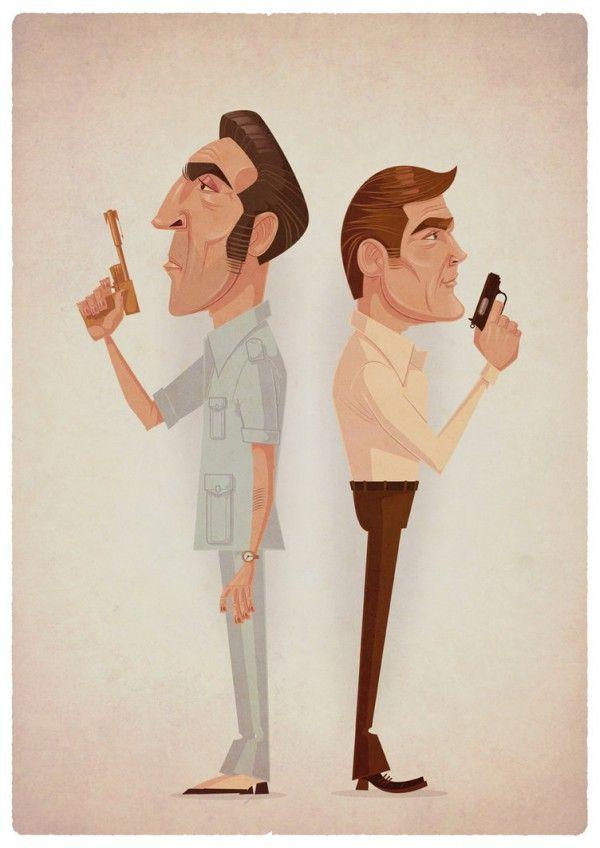 Les illustrations pop art de l'artiste James Gilleard