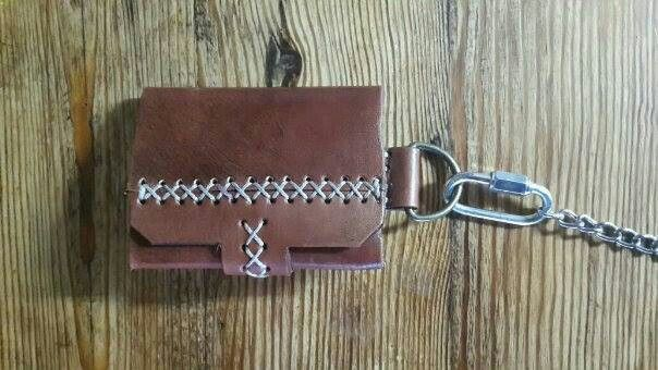 Mens minimalist leather wallet