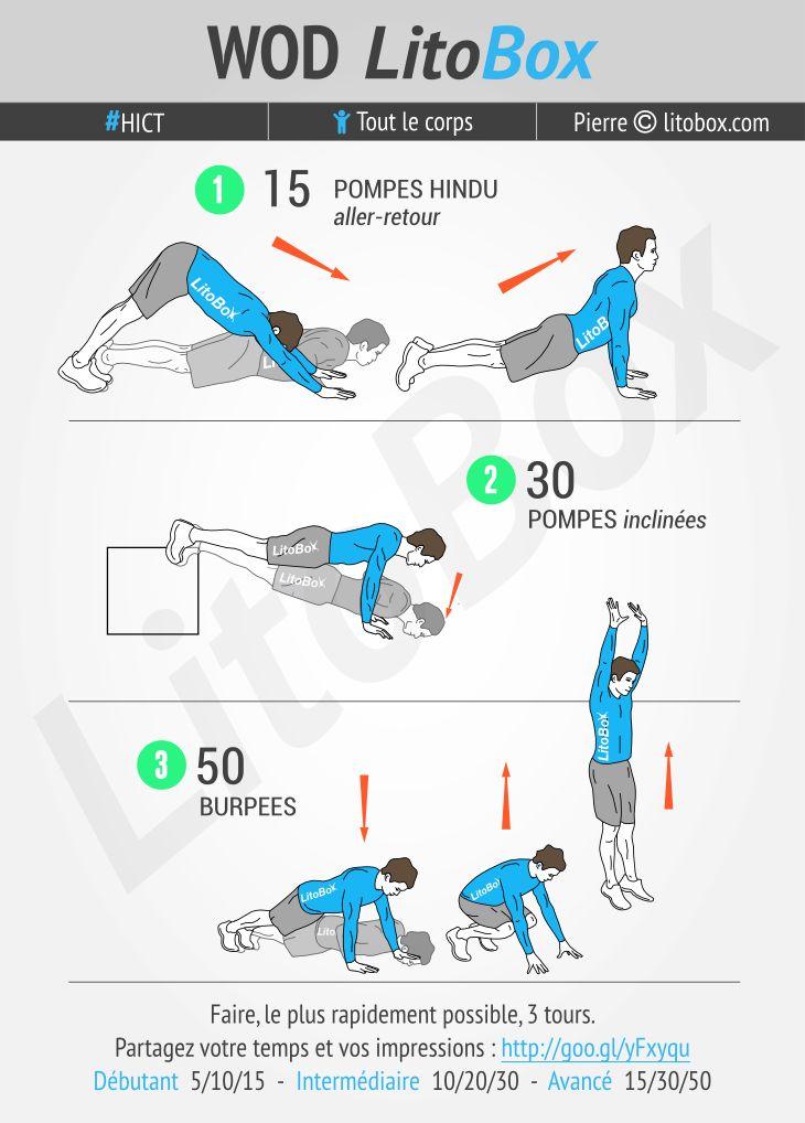 Circuit au poids du corps pour les bras #295   Exercices ...