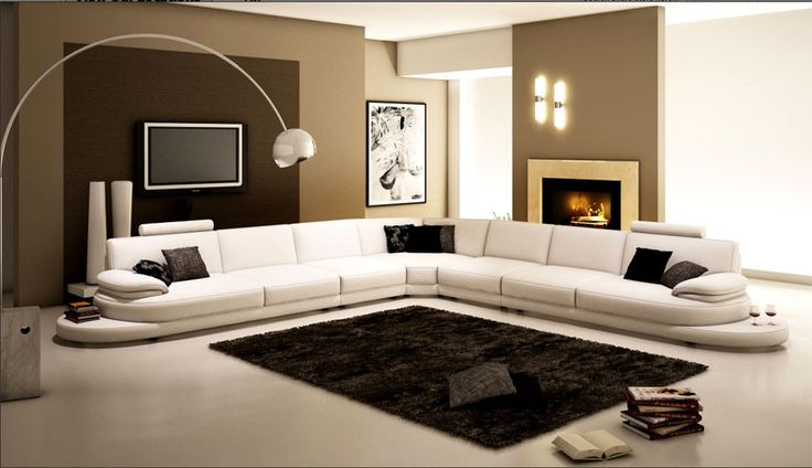Extra Large Modern Sectional Sofa In Copper With End Table Extra ...