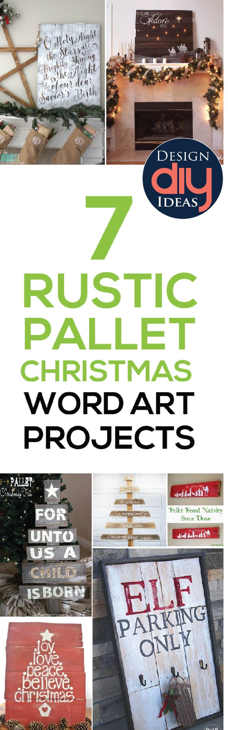 Cheap easy way to bring rustic Christmas decor into your home? Word art!