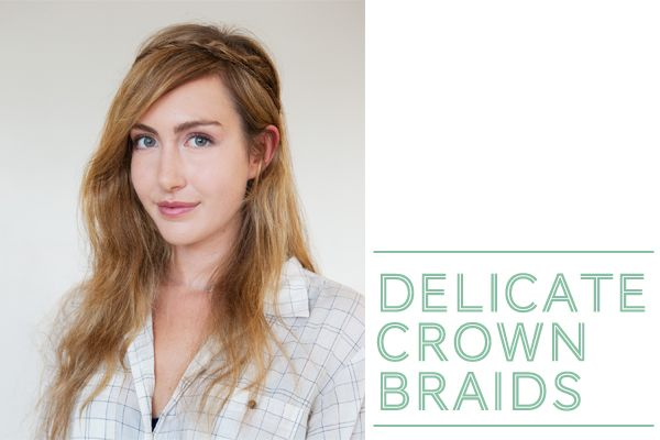 delicate crown braids