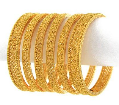 Indian Traditional Bridal Gold Bangles Set