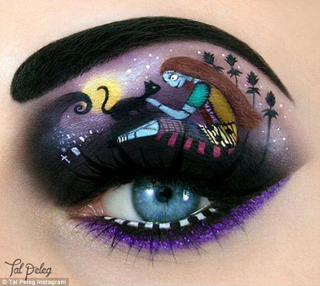 Black cat: The designs use different cosmetics, eyeliners and brushes to create, pictured ...
