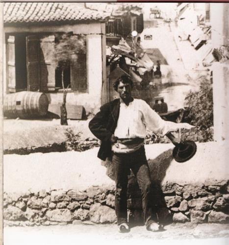 η μοναδική ίσως φωτογραφία αυθεντικού Κουτσαβάκη στην Πλάκα της δεκαετίας του 1880