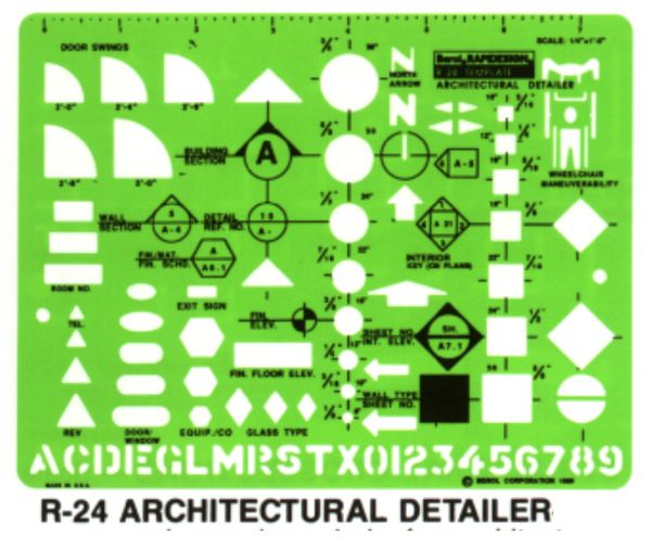 Architectural Drafting Template Symbols Drawing Class