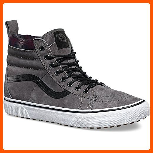 Vans V00XH4JTG Sk8-Hi MTE Unisex Skate Shoes, Pewter/Plaid, Size: 5.5 Men US / 7 Women US - Mens world (*Amazon Partner-Link)