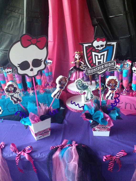 Monster High Birthday CenterPiece