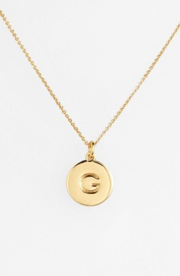 Free shipping and returns on kate spade new york 'one in a million' initial pendant necklace at Nordstrom.com. Choose the initial that means the most to you for a shiny, gold-plated pendant suspended from a delicate rolo chain. While the initialed front salutes your sense of identity, the pendant's reverse is engraved with