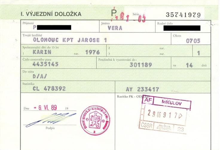 výjezdní doložka (1989)