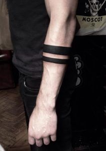 Heavy Blackwork Armbands by Matty Darienzo
