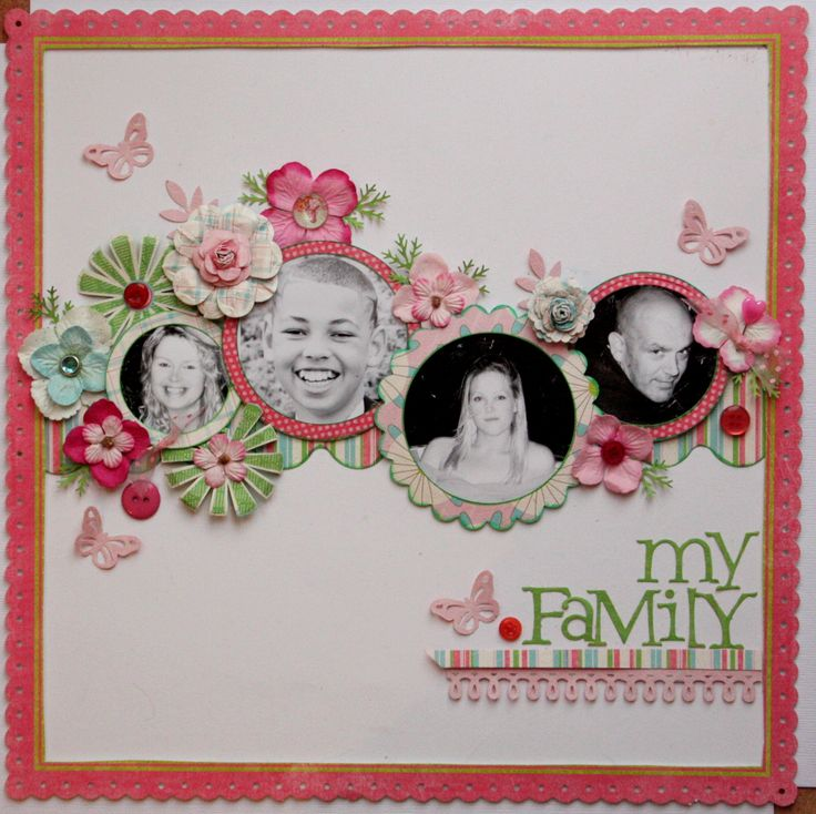 love this layout,,,, use for thomas's high school and Marti and Seans wedding one for each family.. how cute will that be!
